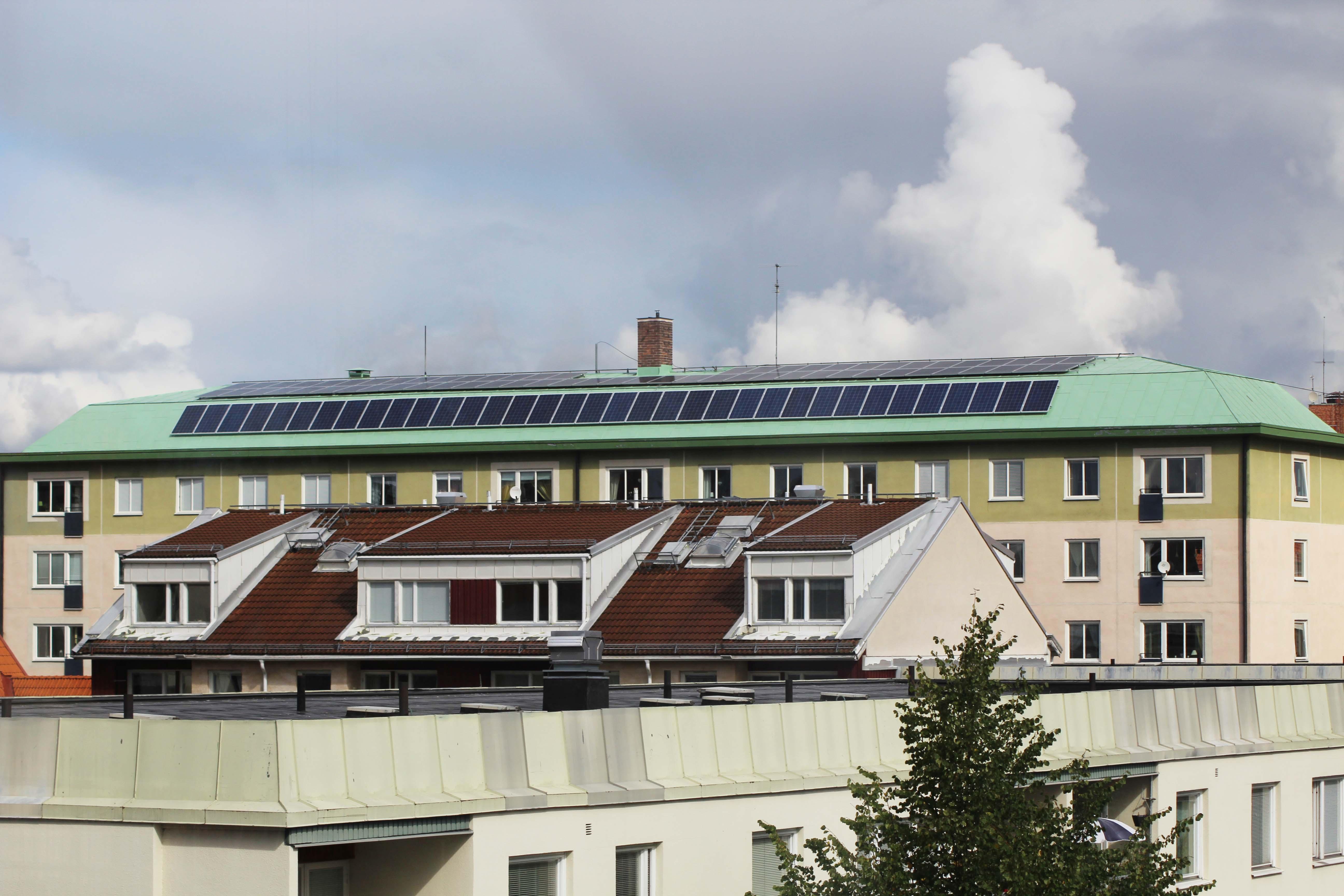 Solceller på Lokes tak 2